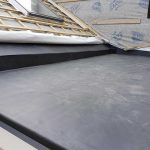 New flat rubber roof