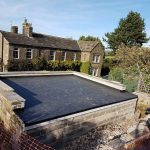 EPDM rubber roof on a garage
