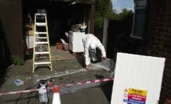 ongoing asbestos removal work